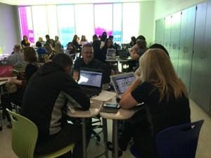 Participants shared new ideas on fostering collaborations in new tech network schools.