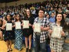 students at NJHS Induction