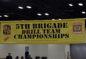 5th Brigade Drill Team Championships banner.