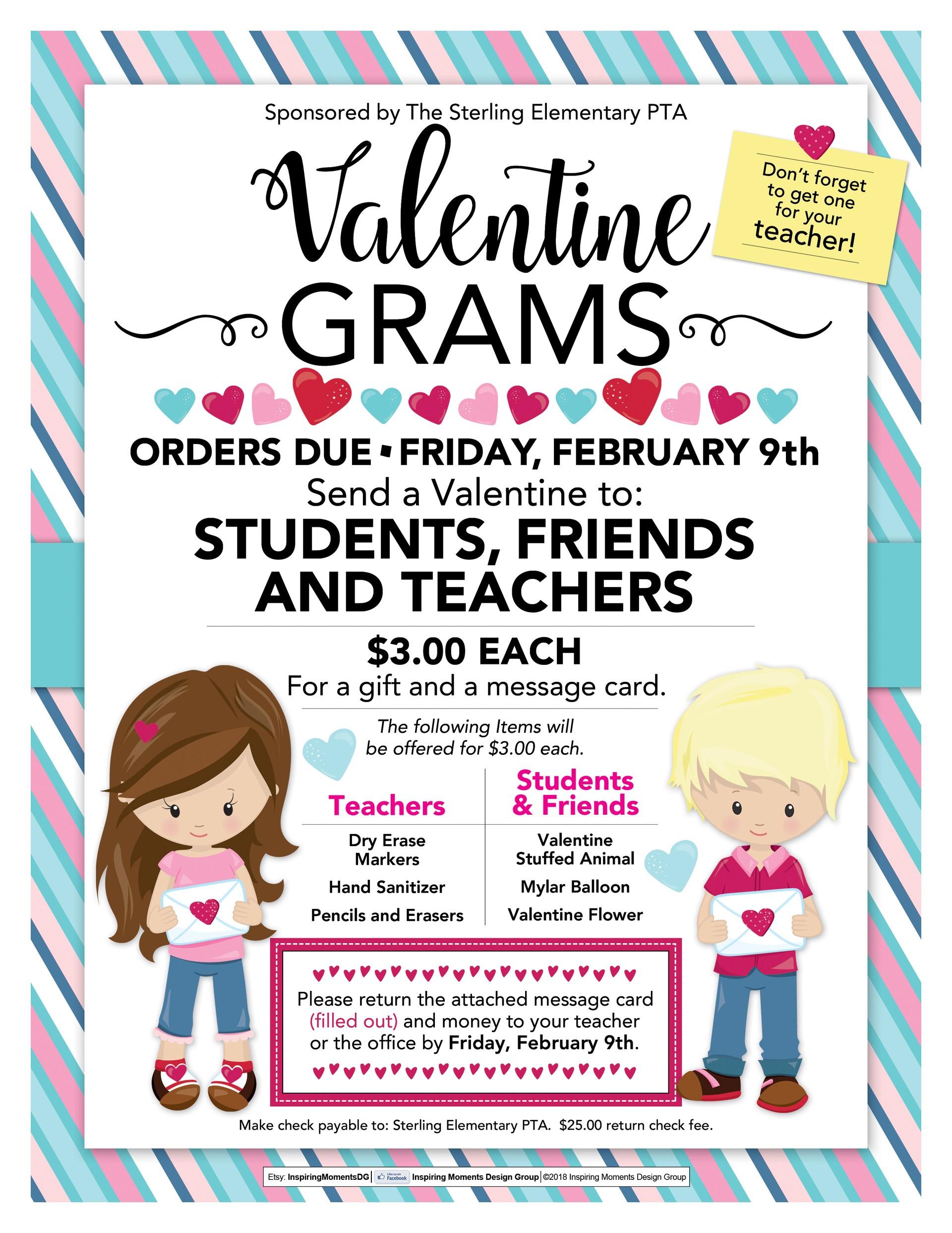 Valentine Grams message