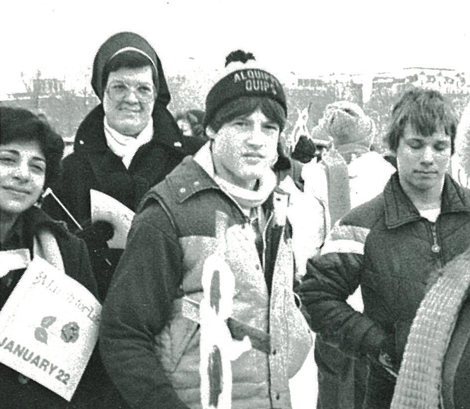 OLSH students and teachers attend the March for Life in Washington, DC in 1982.