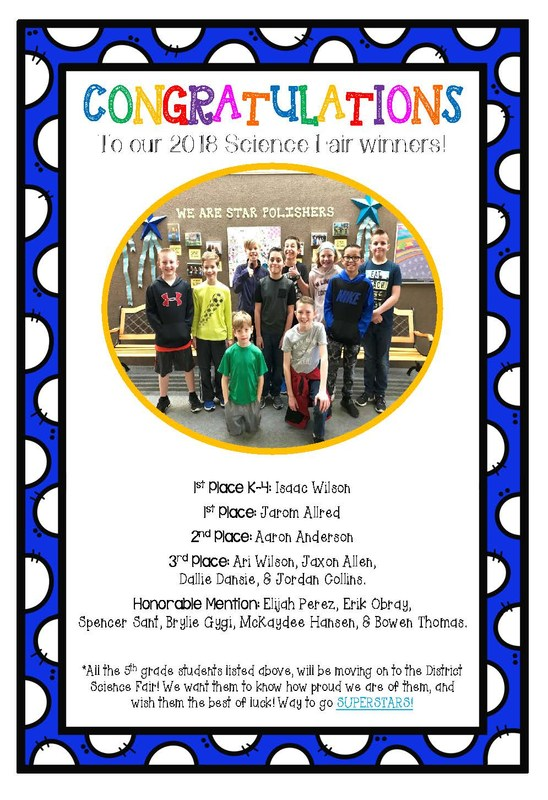 2018 Superstar Science Fair Winners! Thumbnail Image