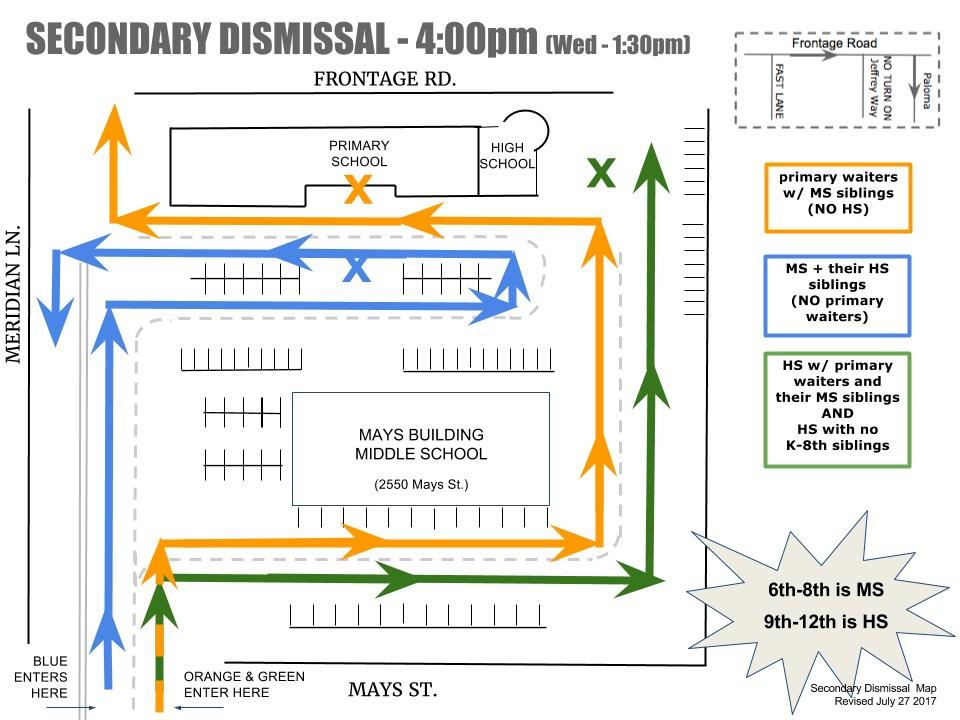 secondary dismissal map