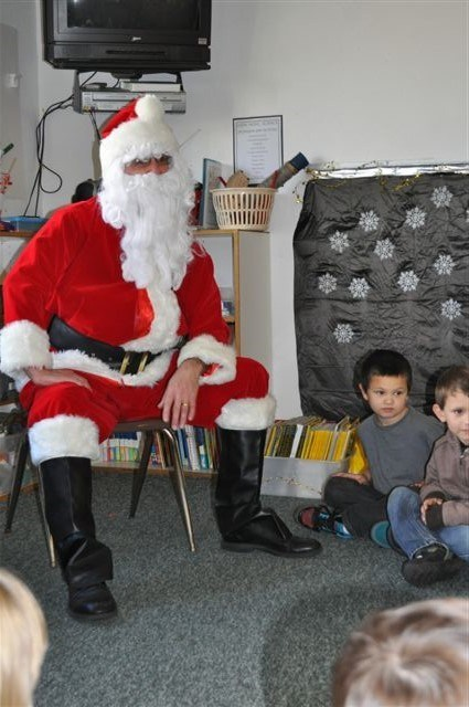 children and santa