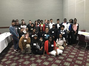 Photo of JAG students and specialists from around the state in group pose at the Lafayette Conference