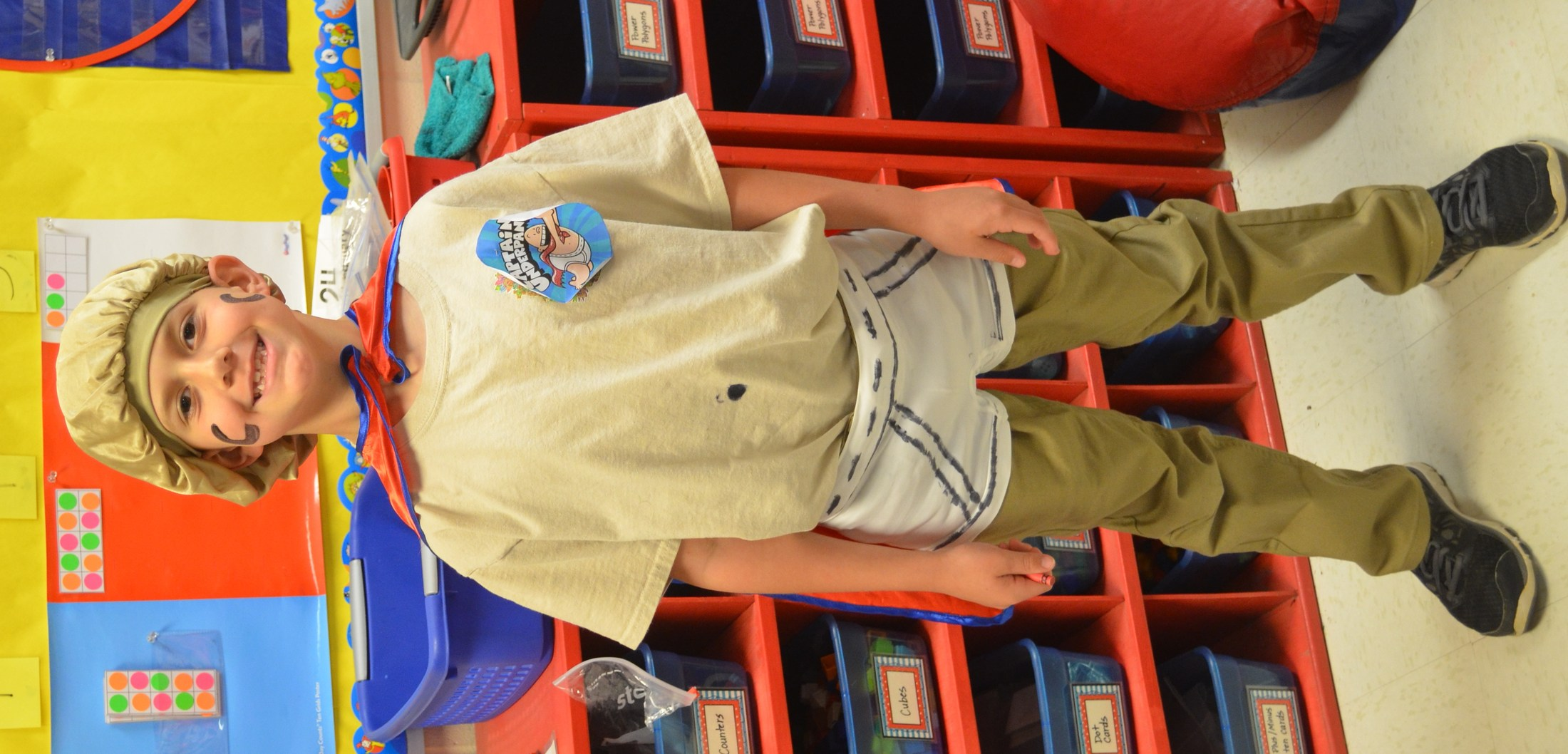 Captain Underpants was spotted at BES on Read Across America Day.