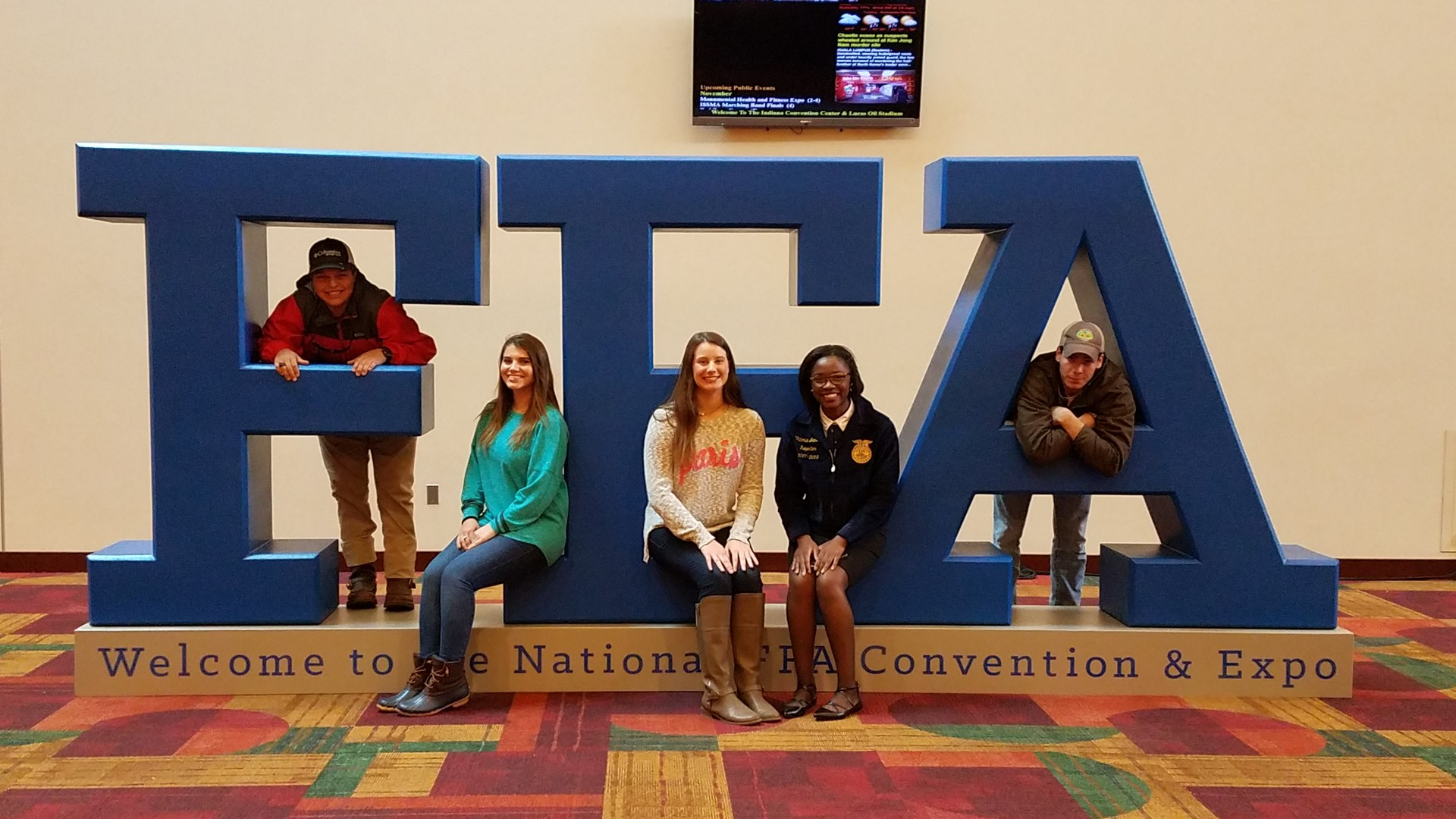 FFA officers at the National FFA convention.