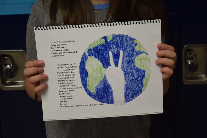 Grade 5 Students create poems and illustration for SUNY Potsdam's