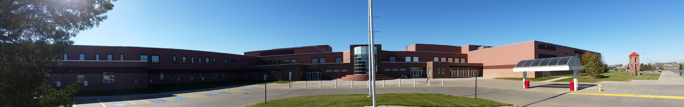 Front of Yankton High School 2016
