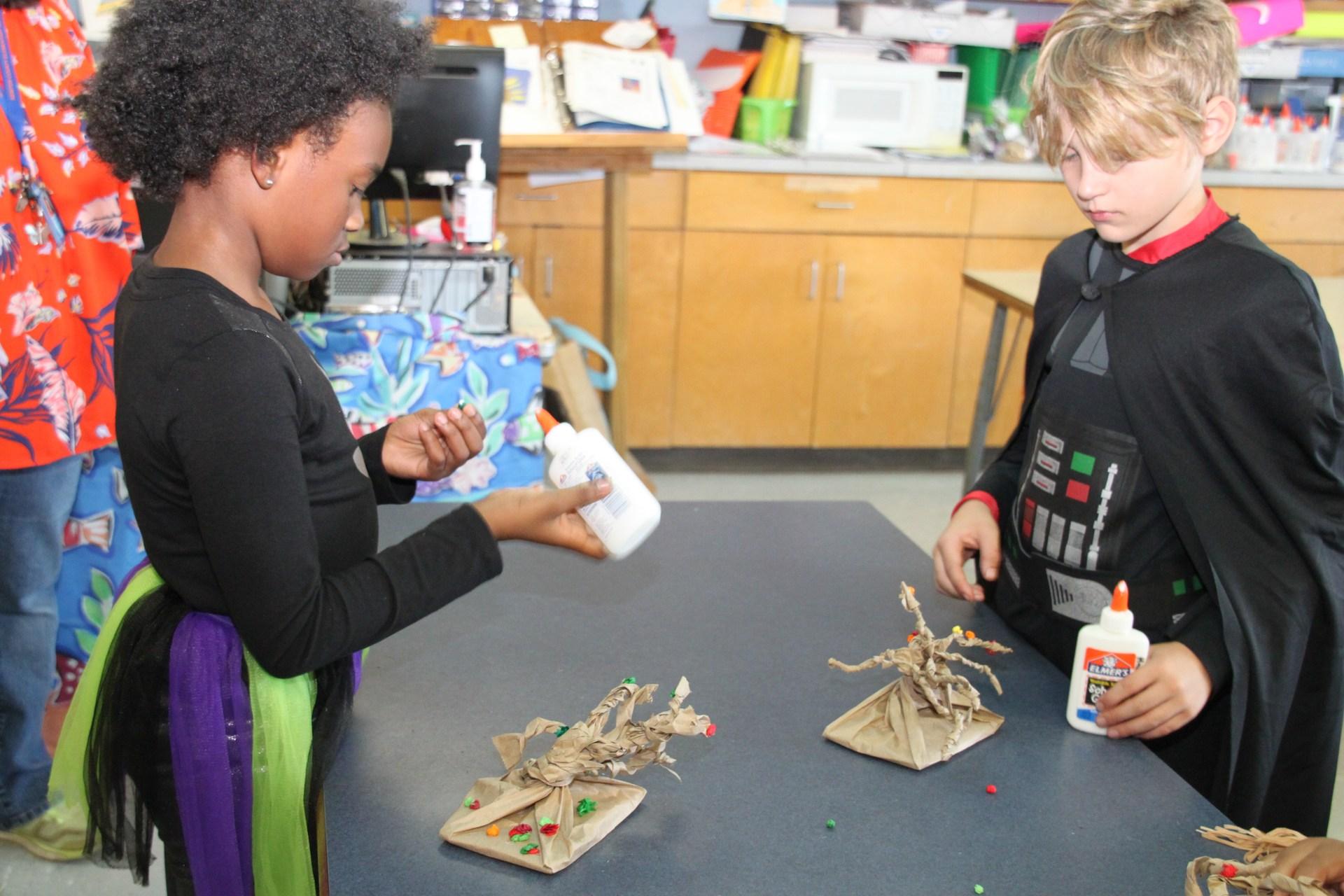 Students Preparing a Craft