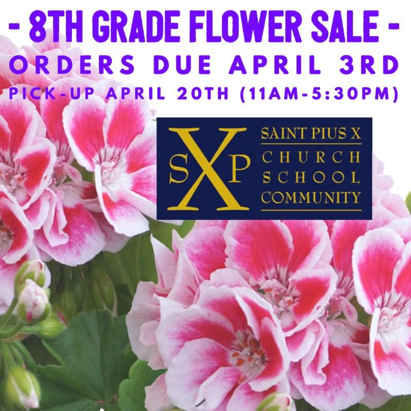 8th Grade Flower Sale Fundraiser Thumbnail Image