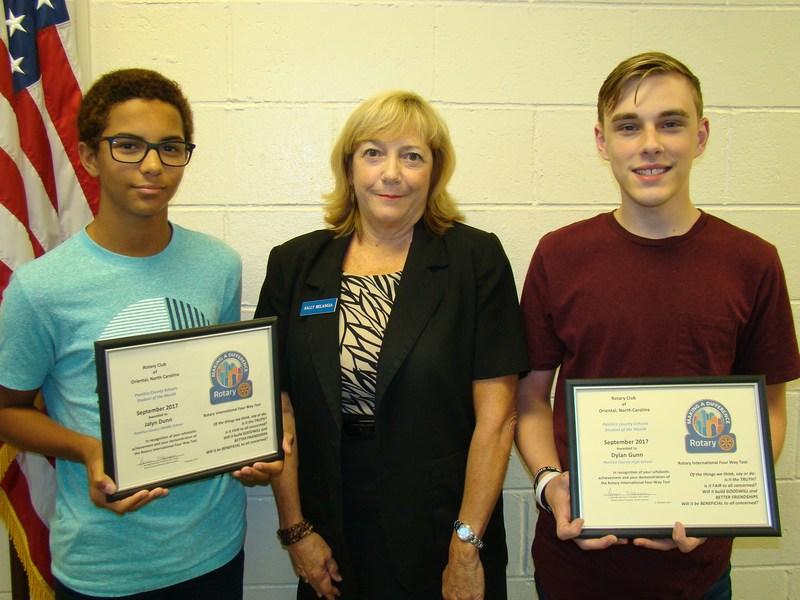 September Rotary Students