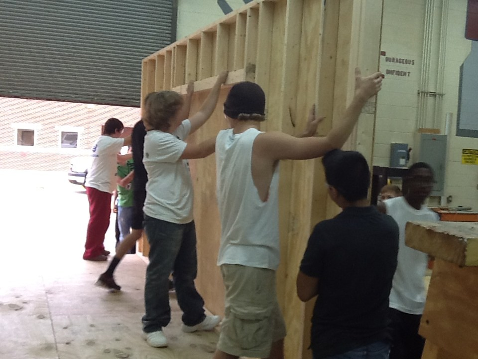 Carpentry Students Hard at Work
