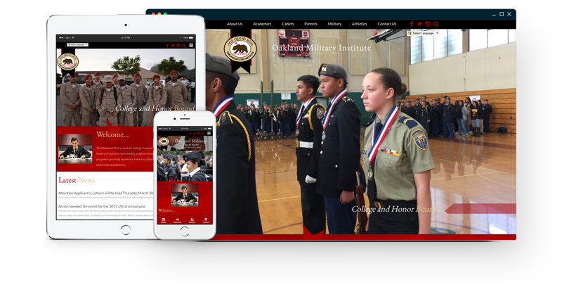Oakland Military Institute Website