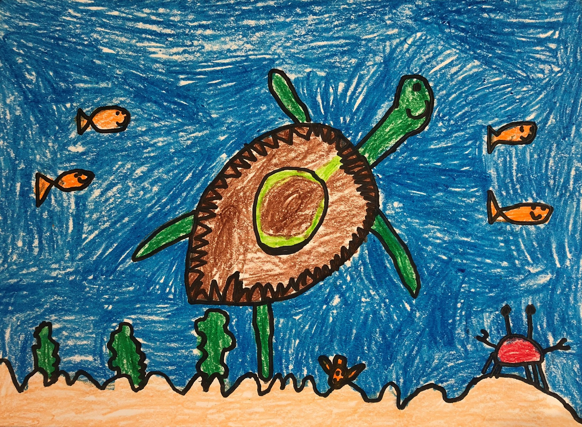 Painting of a turtle