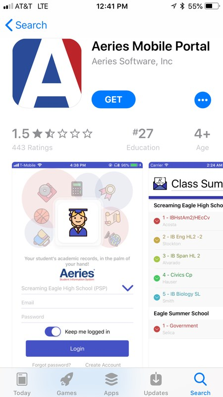 Aeries Mobile App Featured Photo