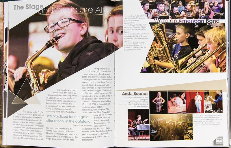 "Eagle Peak Middle School Yearbook Design Recognized by Jostens ""UNBROKEN"" YEARBOOK FEATURED IN 2018 JOSTENS LOOK BOOK Thumbnail Image"