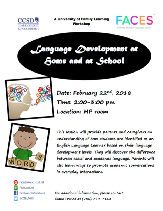 Language Development at Home and at School Thumbnail Image