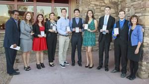 Students and dignitaries