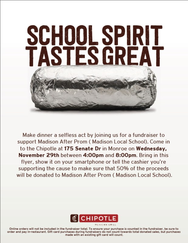 Chipotle After Prom Ad -