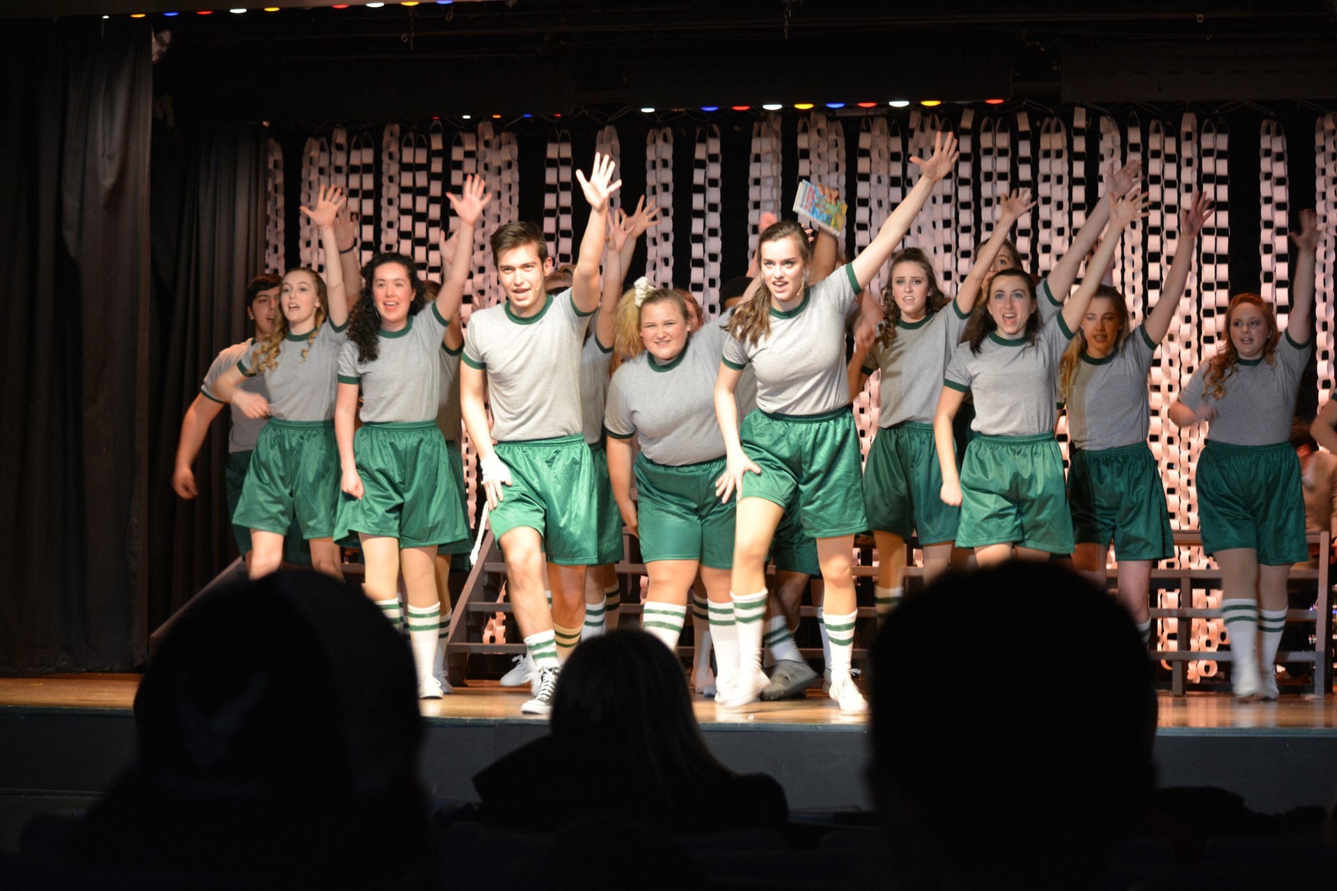 OLSH students performing I'm Free from Footloose the musical