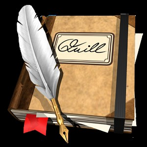 Quill and book