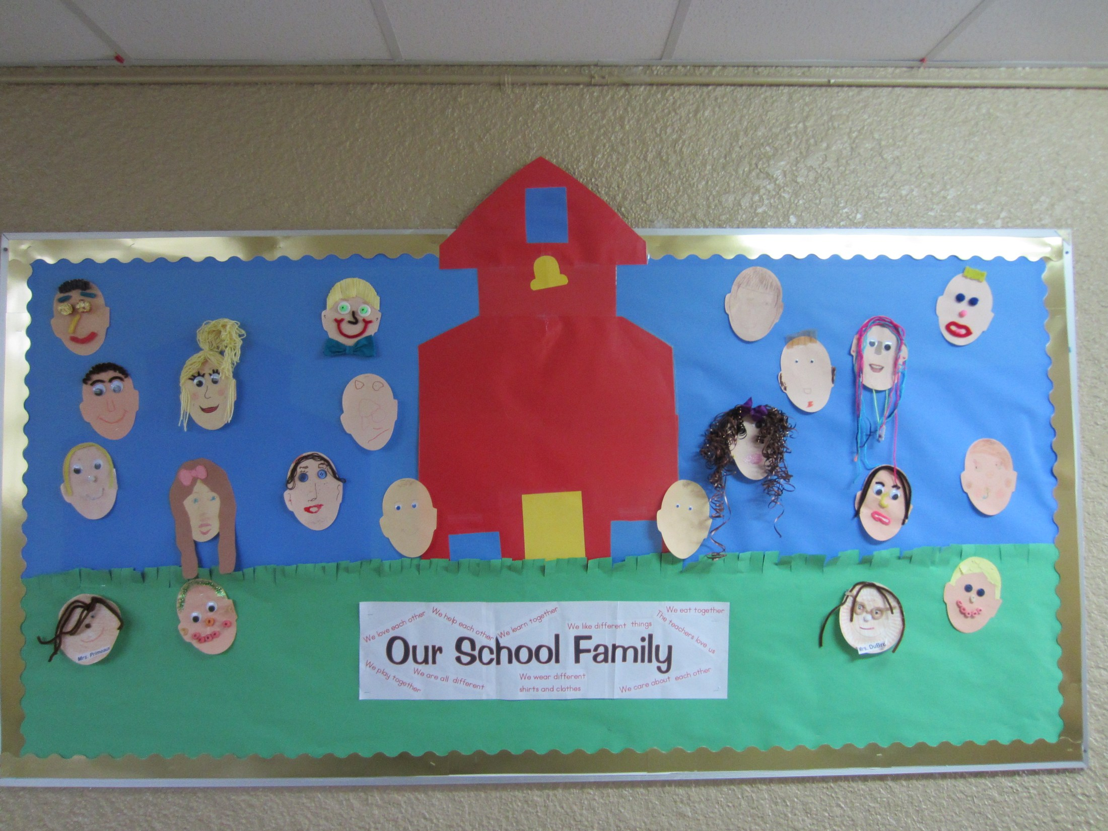 Our Class Family Bulletin Board