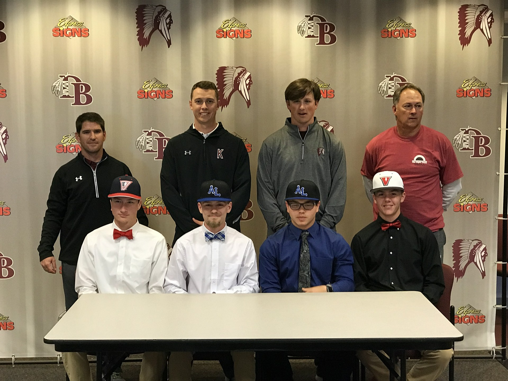 4/11/18 - Everett, Ferrell, Gladson, and Whitehead commit to play baseball at the next level.