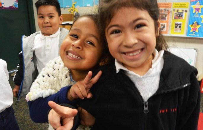 Transitional Kindergarten Students Smiling