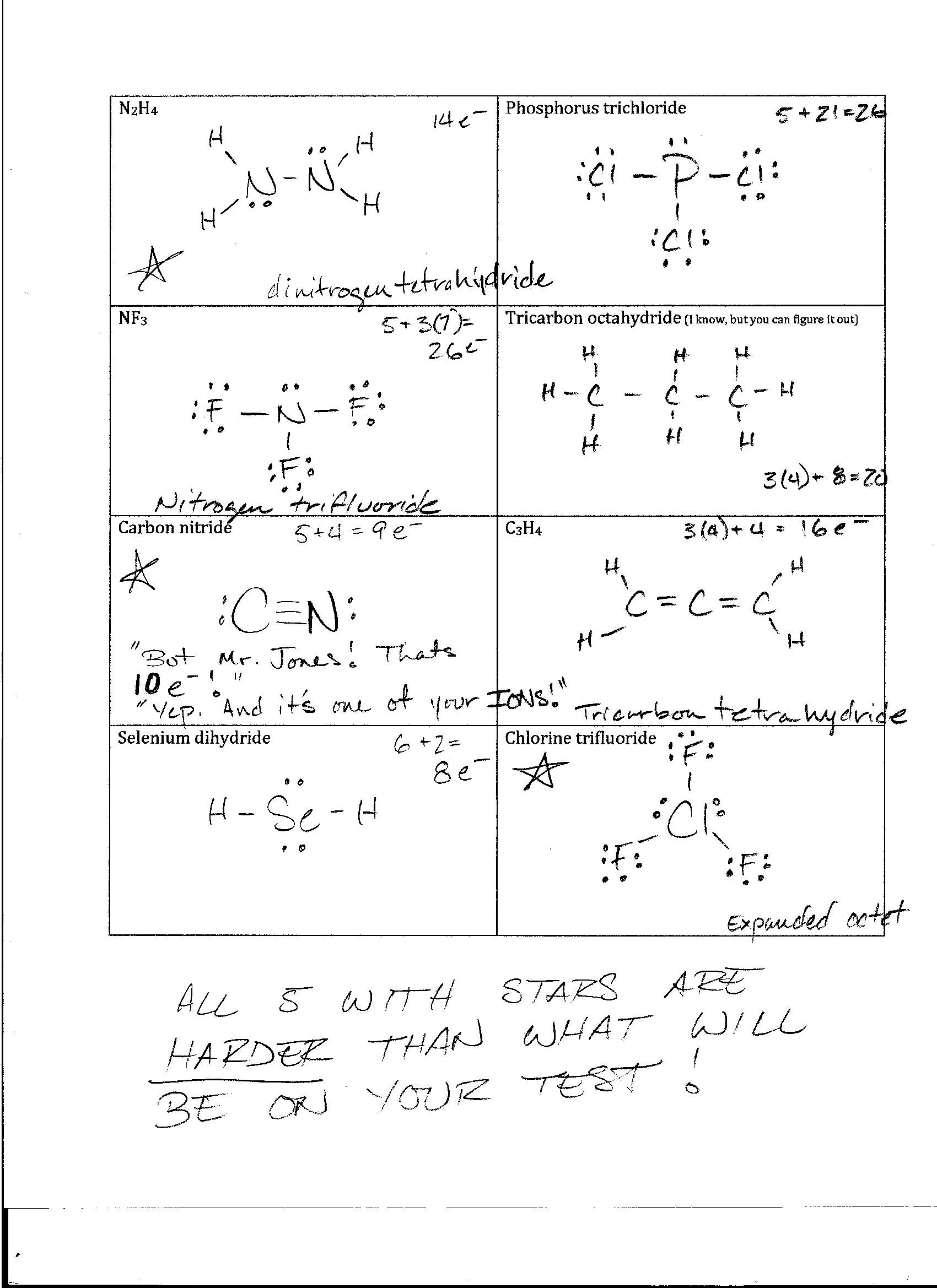 worksheet Lewis Structure Worksheet With Answers foothill high school lewis structures and naming practice 2 key jpg