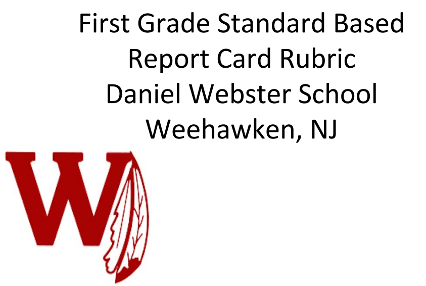 1st Grade Standards Based Report Card Rubric