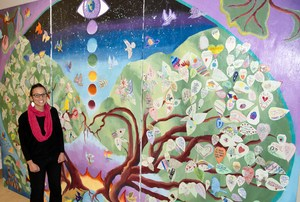 MESA Students Singing Tree Mural