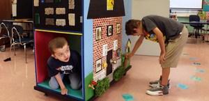mobile sensory cart at Rockvale Elementary