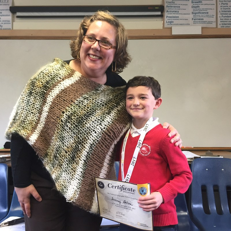 Tommy (Grade 5) wins the Hilldale Geography Bee! Thumbnail Image
