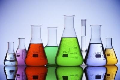 colorful beakers