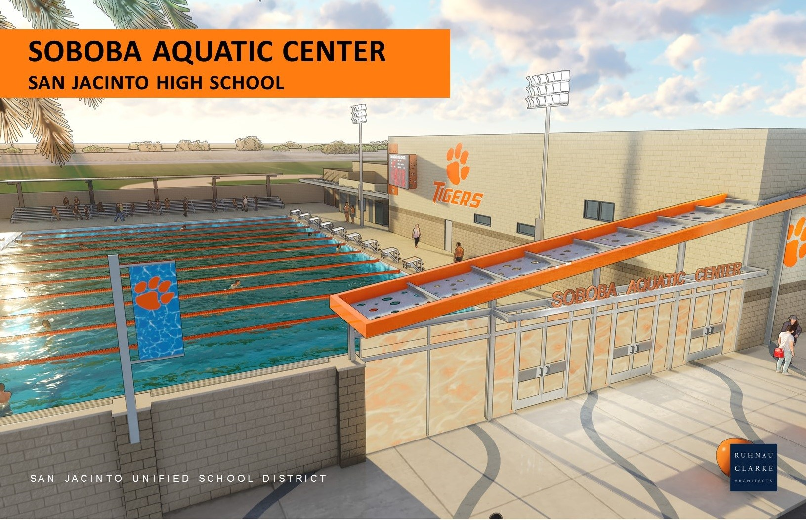 Conceptual drawings of Soboba Aquatic Center