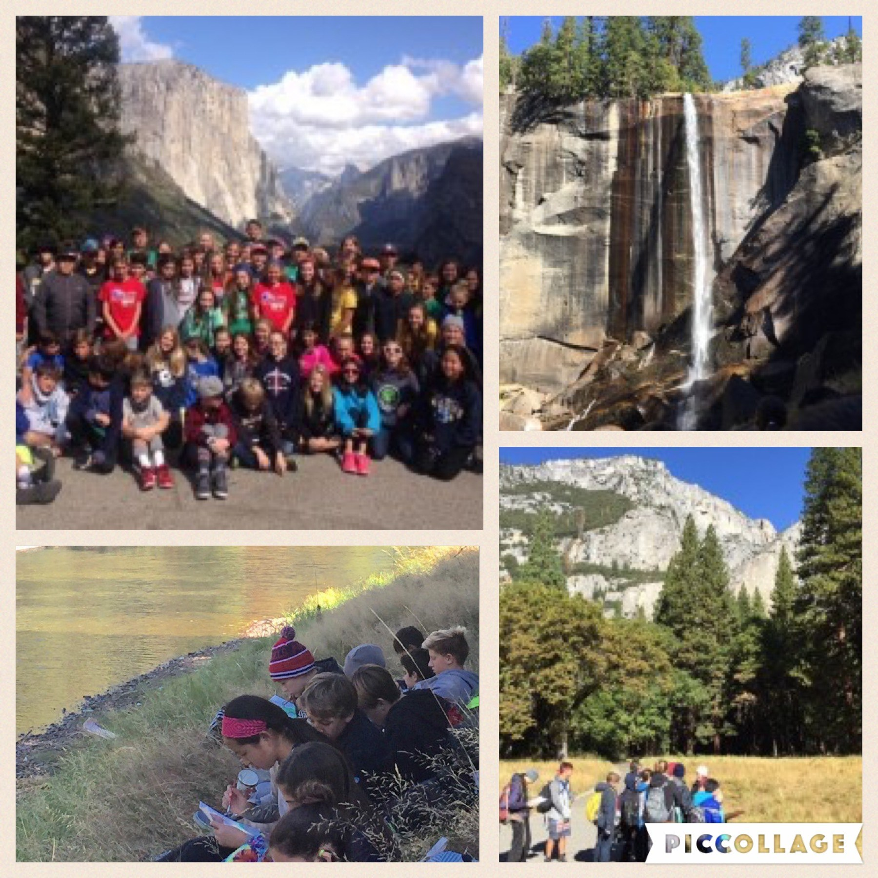 Collage of Yosemite  field trip
