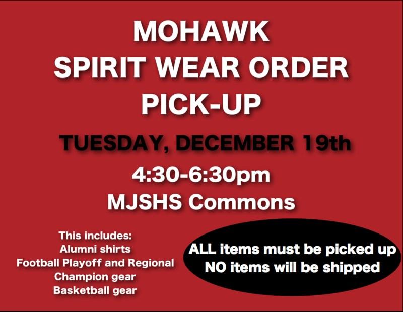 spiritwear pick up flyer