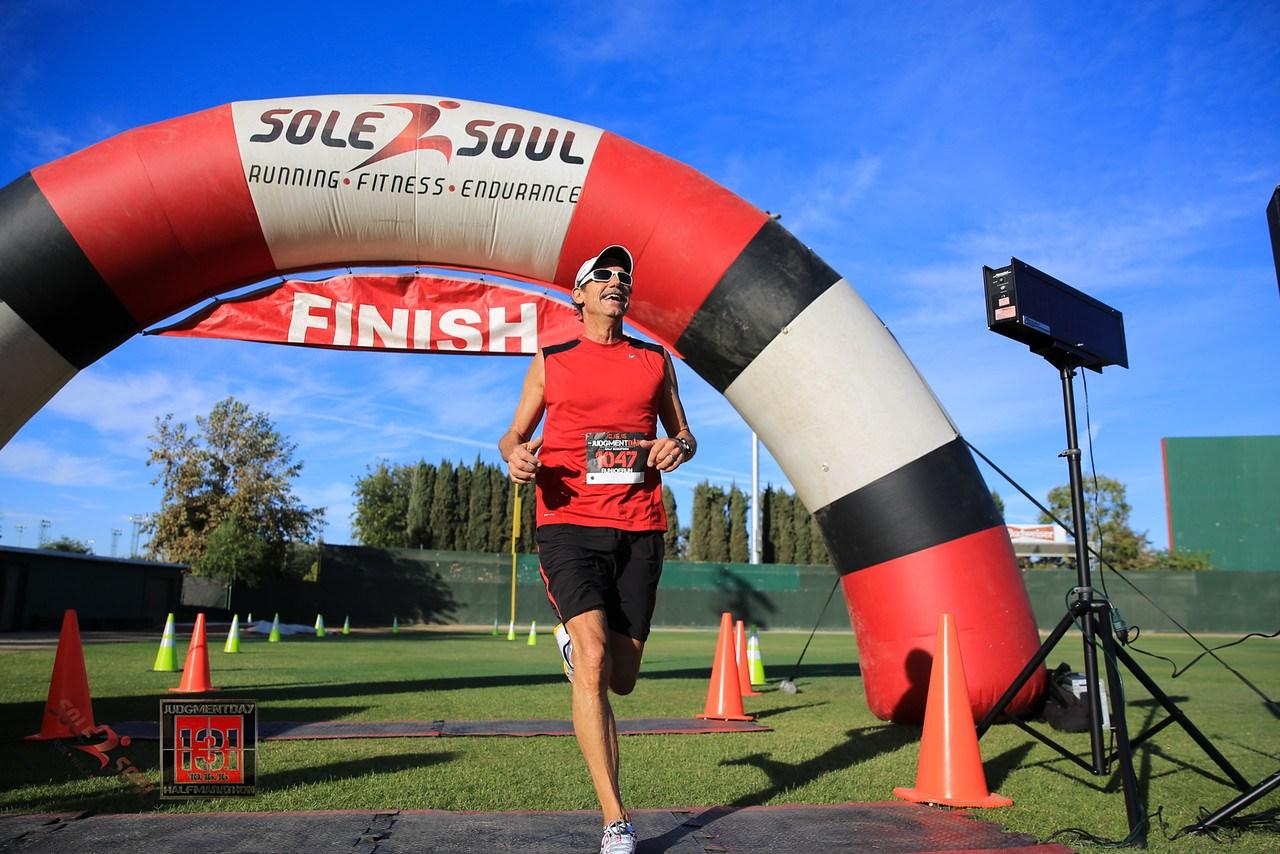 Finish line of a half marathon.