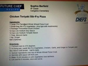 Winning recipe