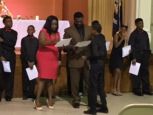 Photo from Baker Middle JAG Initiation & Installation Ceremony