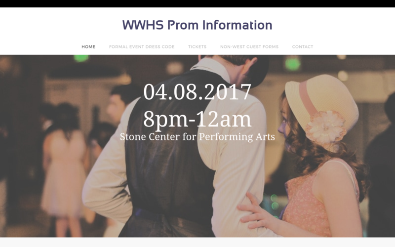 Click here for Prom Information. Thumbnail Image