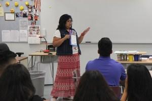 Wapato High School Teacher Elizabeth Mohamed's Math Class on the first day of school