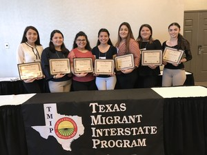 Pictured are the TMIP 30th Interstate Secondary Credit Accrual Workshop Mission High School migrant students facilitators.