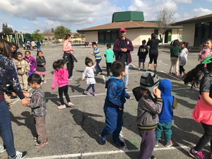 students learn dance steps
