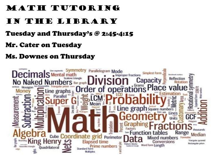 Math Tutoring Times