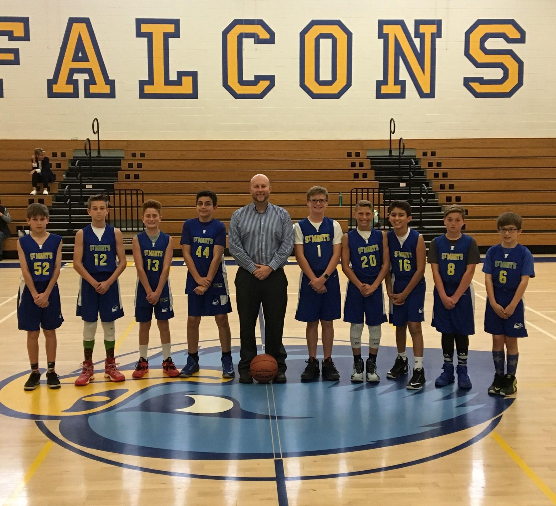 Boys Canyon B basketball team