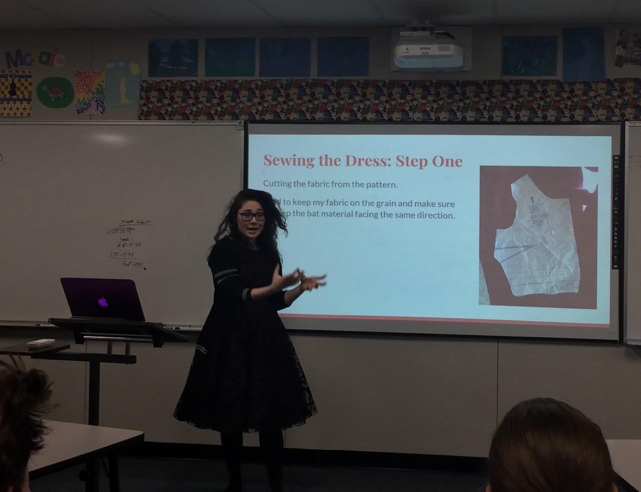 Student doing presentation