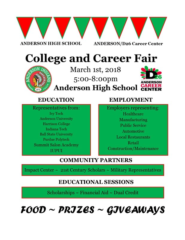 Anderson High School College and Career Fair Thumbnail Image