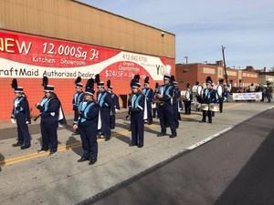 Marching Crusaders at Veterans Day Parade